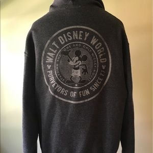 Vintage Walt Disney World zip-up hooded sweatshirt